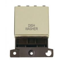 Click MiniGrid MD022BRDW Pol/Brass 20A DP Dishwasher Sw Module