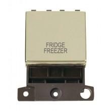 Click MiniGrid MD022BRFF Pol/Brass 20A DP Fridge Freezer Sw Mod