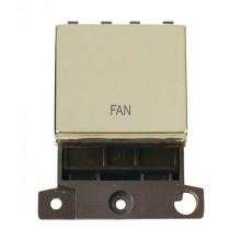 Click MiniGrid MD022BRFN Polished Brass 20A DP Fan Switch Module