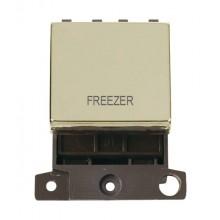 Click MiniGrid MD022BRFZ Pol/Brass 20A DP Freezer Switch Module