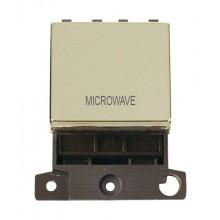 Click MiniGrid MD022BRMW Pol/Brass 20A DP Microwave Sw Module