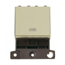 Click MiniGrid MD022BROV Polished Brass 20A DP Oven Sw Module