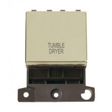 Click MiniGrid MD022BRTD Pol/Brass 20A DP Tumble Dryer Sw Module