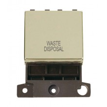 Click MiniGrid MD022BRMW Pol/Brass 20A DP Waste Dispoal Sw Mod