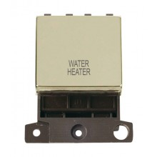 Click MiniGrid MD022BRWH Pol/Brass 20A DP Water Heater Sw Module