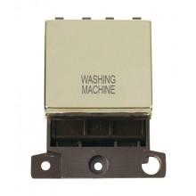 Click MiniGrid MD022BRWM Pol/Brass 20A DP Washing Machine Sw Mod