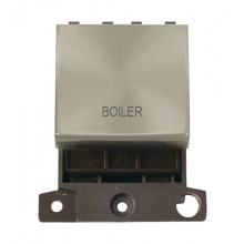 Click MiniGrid MD022BSBL Brushed Steel 20A DP Boiler Module