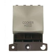 Click MiniGrid MD022BSCH B/Steel 20A DP Cooker Hood Module