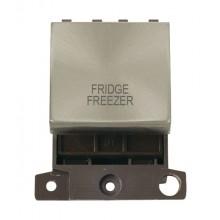 Click MiniGrid MD022BSFF B/Steel 20A DP Fridge Freezer Module