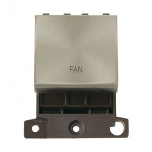 Click MiniGrid MD022BSFN Brushed Steel 20A DP Fan Module