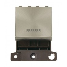 Click MiniGrid MD022BSFZ Brushed Steel 20A DP Freezer Module
