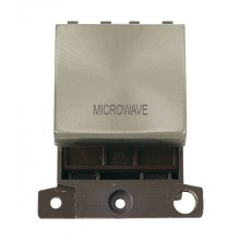 Click MiniGrid MD022BSMW Brushed Steel 20A DP Microwave Module