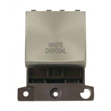 Click MiniGrid MD022BSWD B/Steel 20A DP Waste Disposal Module