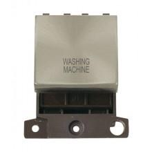 Click MiniGrid MD022BSWM B/Steel 20A DP Washing Machine Module