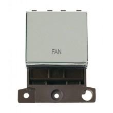 Click MiniGrid MD022CHFN Polished Chrome 20A DP Fan Switch Mod