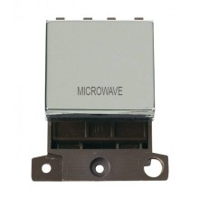Click MiniGrid MD022CHMW Polished Chrome 20A DP Microwave Sw Mod