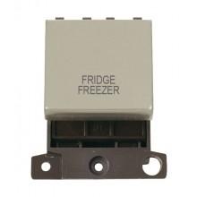 Click MiniGrid MD022PNFF P/Nickel 20A DP Fridge Freezer Sw Mod