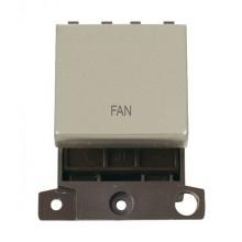 Click MiniGrid MD022PNFN P/Nickel 20A DP Fan Sw Module