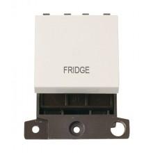Click MiniGrid MD022PWFD Polar White 20A DP Fridge Switch Module