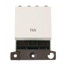 Click MiniGrid MD022PWFN Polar White 20A DP Fan Switch Module