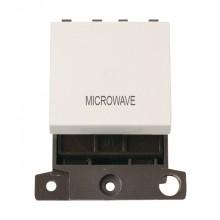 Click MiniGrid MD022PWMW Polar White 20A DP Microwave Switch Mod