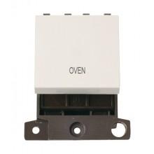 Click MiniGrid MD022PWOV Polar White 20A DP Oven Switch Module