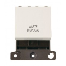 Click MiniGrid MD022PWWD Polar White DP Waste Disposal Sw Module