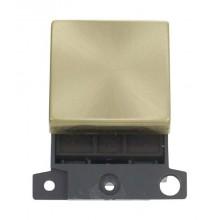 Click MiniGrid MD022SB Satin Brass 20A DP Switch Module