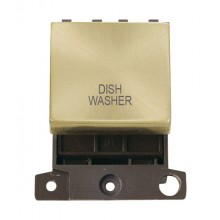Click MiniGrid MD022SBDW Satin Brass 20A DP Dishwasher Sw Module