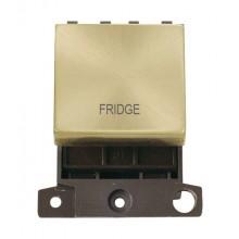 Click MiniGrid MD022SBFD Satin Brass 20A DP Fridge Switch Module