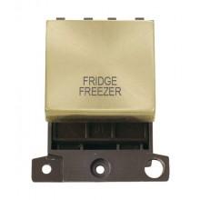 Click MiniGrid MD022SBFF Sat/Brass 20A DP Fridge Freezer Sw Mod