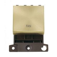 Click MiniGrid MD022SBFN Satin Brass 20A DP Fan Switch Module