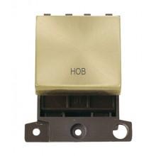 Click MiniGrid MD022SBHB Satin Brass 20A DP Hob Switch Module