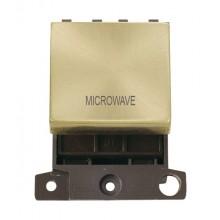 Click MiniGrid MD022SBMW Satin Brass 20A DP Microwave Sw Module