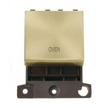 Click Minigrid 20A Switch Ingot DP 2 Module Satin Brass MD022SBOV
