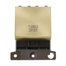 Click MiniGrid MD022SBTD Satin Brass 20A DP Tumble Dryer Sw Mod