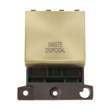 Click MiniGrid MD022SBWD Sat/Brass 20A DP Waste Disposal Sw Modo