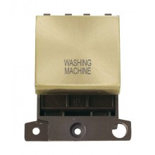 Click MiniGrid MD022SBWM Sat/Brass 20A DP Washing Machine Sw Mod