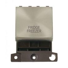 Click MiniGrid MD022SCFF S/Chrome 20A DP Fridge Freezer Sw Mod