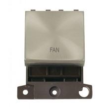 Click MiniGrid MD022SCFN Satin Chrome 20A DP Fan Switch Module