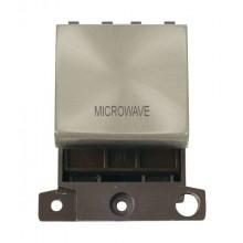 Click MiniGrid MD022SCMW Satin Chrome 20A DP Microwave Sw Module