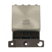 Click MiniGrid MD022SCWH Satin Chrome 20A DP Water Heater Sw Mod