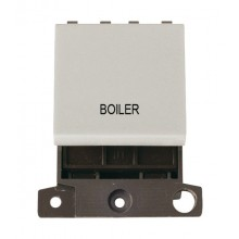 Click MiniGrid MD022WHBL White 20A DP Boiler Switch Module