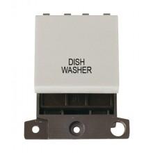 Click MiniGrid MD022WHDW White 20A DP Dish Washer Switch Module