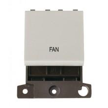 Click MiniGrid MD022WHFN White 20A DP Fan Switch Module