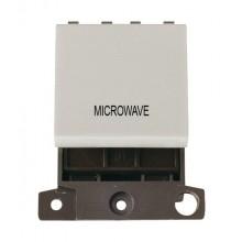 Click MiniGrid MD022WHMW White 20A DP Microwave Switch Module