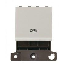 Click MiniGrid MD022WHOV White 20A DP Oven Switch Module