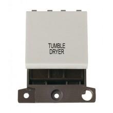 Click MiniGrid MD022WHTD White 20A DP Tumble Dryer Switch Module