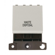 Click MiniGrid MD022WHWD White 20A DP Waste Disposal Switch Mod