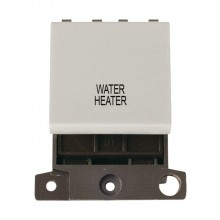Click MiniGrid MD022WHWH White 20A DP Water Heater Switch Module